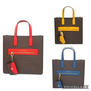 Michael Kors Crossbody Bag& Keychain Card Case Set